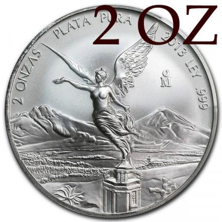 2013 * Messico 2 OZ Once d'argento Libertad