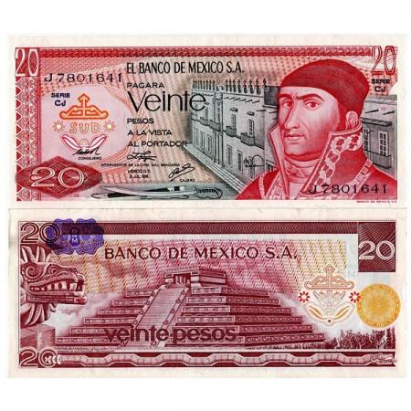 """1972-77 * Banconota Messico 20 Pesos """"J Morelos"""" (p64) FDS"""