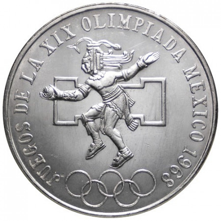 "1968 * 25 Pesos Argento Messico ""Mexico '68"" (KM 479.1) UNC"