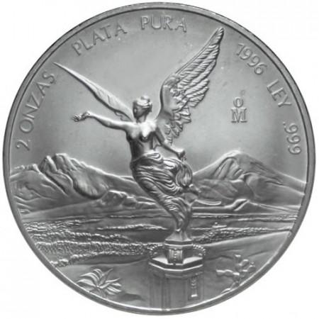 1996 * Messico 2 OZ Once d'argento Libertad