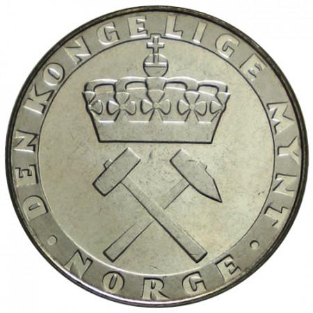 "1986 * 5 Kroner Norvegia ""300° Anniversario della Zecca"" (KM 428) UNC"