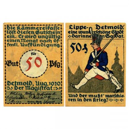 "1920 * Notgeld Germania 50 Pfennig ""Renania Sett-Vestfalia - Detmold"" (268.2)"