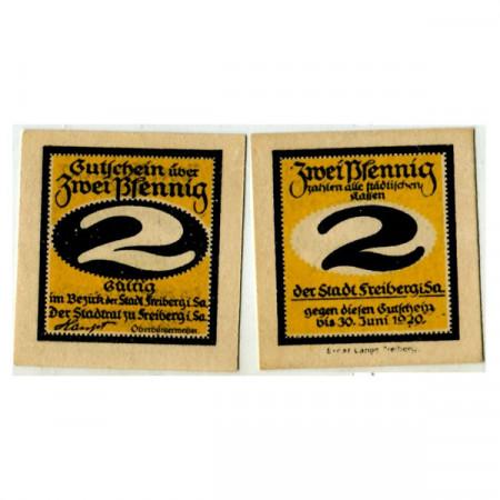 "1920 * Notgeld Germania 2 Pfennig ""Sassonia – Freiberg"" (F19.6)"