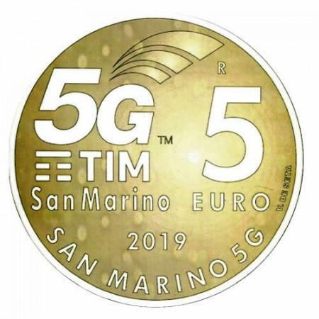 "2019 * 5 Euro Bronzital SAN MARINO ""5G"" UNC"