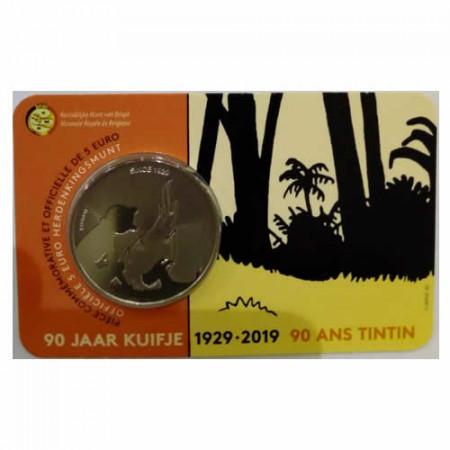 """2019 * 5 euro BELGIO """"90° Tintin"""" Coincard FDC"""