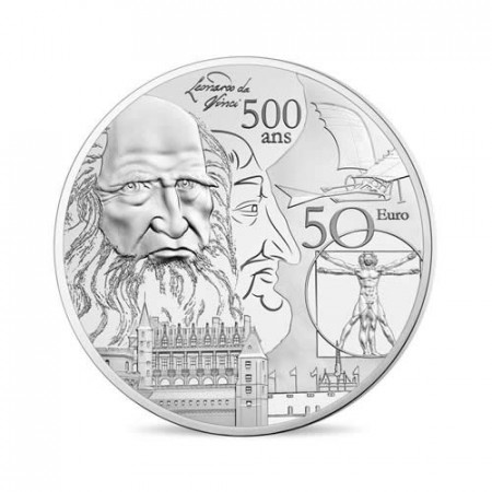 "2018 * 10 Euro FRANCIA ""Rinascimento - Leonardo Da Vinci"" PROOF"