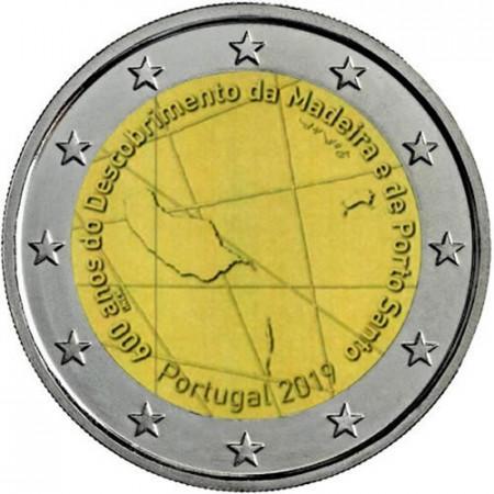 """2019 * 2 Euro PORTOGALLO """"600º Scoperta dell'Isola di Madeira"""" UNC"""