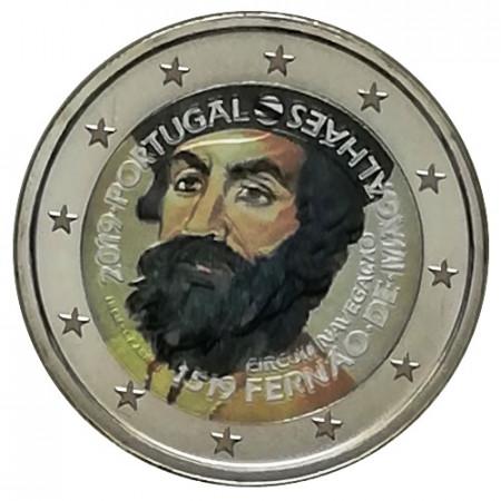 """2019 * 2 Euro PORTOGALLO """"500º Circumnavigazione di Magellano"""" Colorato"""
