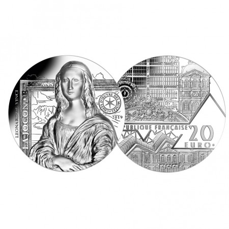 "2019 * 20 Euro FRANCIA ""Monna Lisa - La Gioconda"" PROOF"