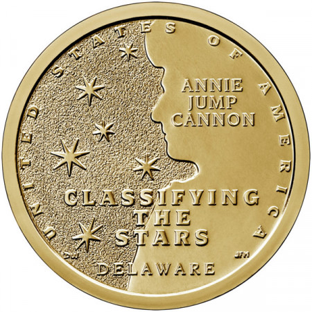 "2019 * 1 Dollaro Stati Uniti ""American Innovation - Delaware - Classifying the Stars"" UNC"