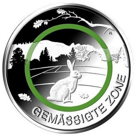 """2019 * 5 Euro Metallo Polimero GERMANIA """"Zone Climatiche - Zona Moderata"""" (Zecca Casuale) UNC"""