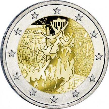 """2019 * 2 Euro FRANCIA """"30° Caduta Muro di Berlino"""" UNC"""