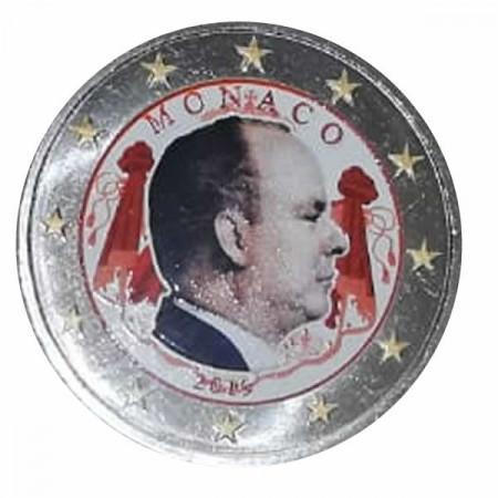 """2019 * 2 Euro MONACO """"Alberto II"""" Colorato"""
