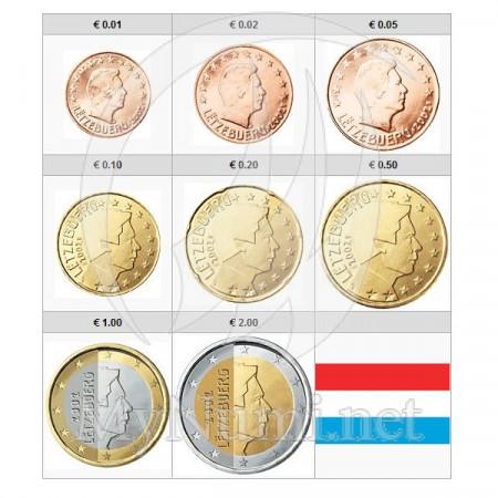 2019 * Serie 8 Monete Euro LUSSEMBURGO UNC