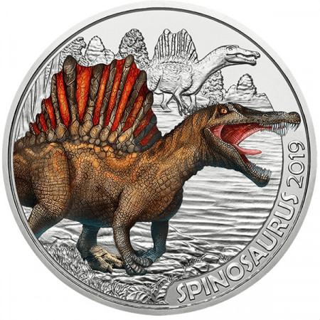"2019 * 3 Euro Colourful AUSTRIA ""Supersaurs - Spinosaurus"" Colorato BU"
