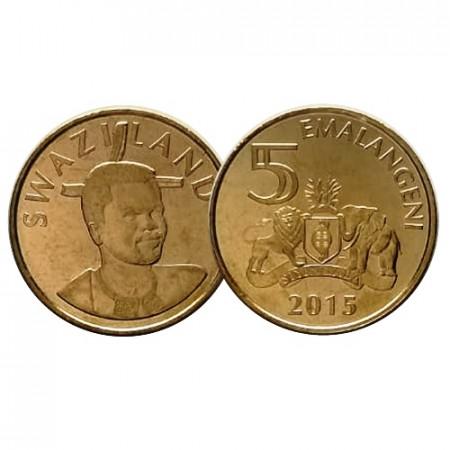 """2015 * 5 Emalangeni Swaziland """"New Design"""" UNC"""