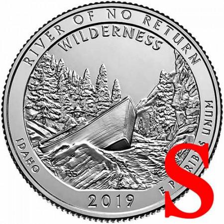 "2019 * Quarto di Dollaro (25 Cents) Stati Uniti ""River of No Return - Idaho"" S UNC"
