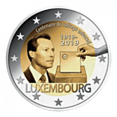 """2019 * 2 Euro LUSSEMBURGO """"100º Anniversario del Suffragio Universale"""" UNC - Versione da Rotolino"""