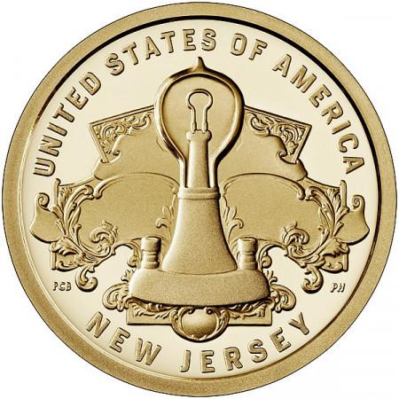 "2019 * 1 Dollaro Stati Uniti ""American Innovation - New Jersey - Edison Lightbulb"" UNC"