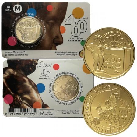 "2019 * 2,5 Euro BELGIO ""Manneken Pis"" Coincard"