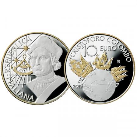 "2019 * 10 Euro ITALIA ""Cristoforo Colombo"" PROOF"