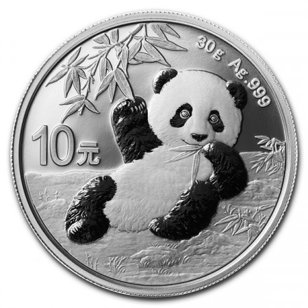"2020 * 10 Yuan Argento (30gr) Cina ""Panda"" FDC"