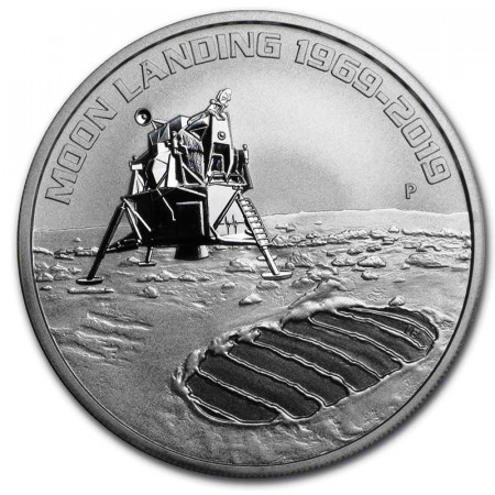 "2019 * 1 Dollaro Argento 1 OZ Australia ""Anniversary of the Moon Landing"" FDC"