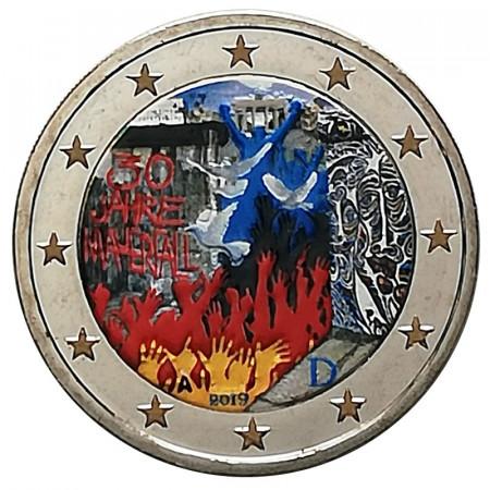 """2019 * 2 Euro GERMANIA """"30° Caduta Muro di Berlino"""" Colorato"""