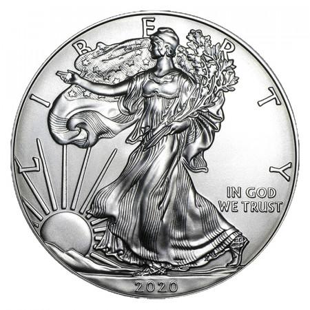 "2020 * 1 Dollar Argento 1 OZ Stati Uniti ""Liberty - Silver Eagle"" FDC"