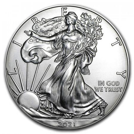 "2021 * 1 Dollar Argento 1 OZ Stati Uniti ""Liberty - Silver Eagle"" FDC"