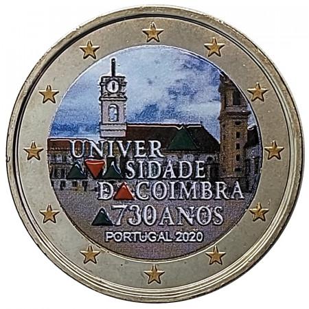 """2020 * 2 Euro PORTOGALLO """"730º anniversario dell'Università di Coimbra"""" Colorato"""