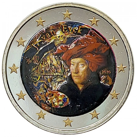 "2020 * 2 Euro BELGIO ""Jan van Eyck"" Colorato"