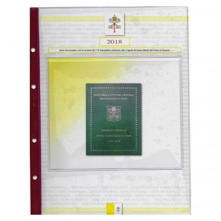 """2018 Foglio + Tasca Divisionale Vaticano """"5 Euro - Santa Maria del Fiore"""" * ABAFIL"""