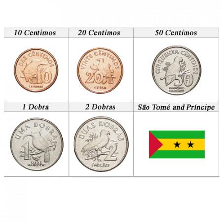 """2017 * Serie 5 Monete São Tomé e Príncipe """"Dobras"""" UNC"""