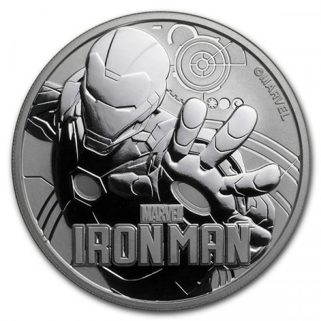 "2018 * 1 Dollar Argento 1 OZ Tuvalu ""Marvel - Iron Man"" FDC"