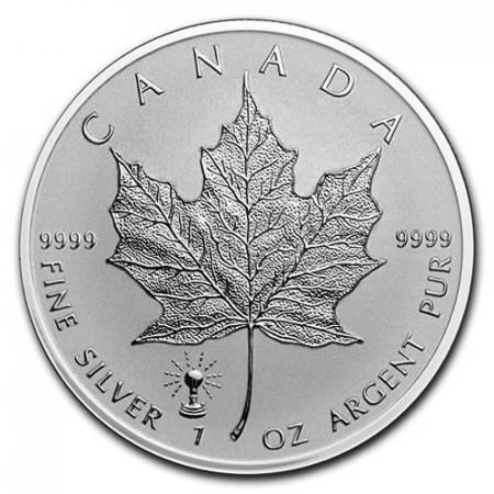 "2018 * 5 Dollars Argento 1 OZ Canada Foglia Acero ""Edison Light Bulb"" Privy Mark"