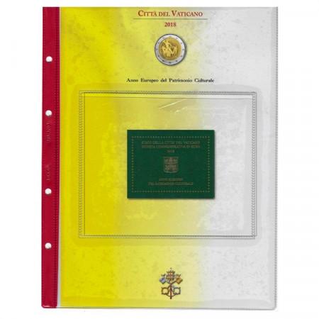 """2018 Foglio + Tasca 2 Euro Vaticano """"Anno Patrimonio Culturale"""" * ABAFIL"""