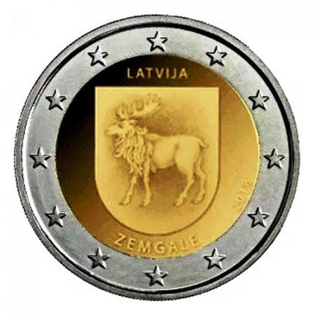 """2018 * 2 Euro LETTONIA """"Regioni della Lettonia - Zemgale"""" (4/4) UNC"""