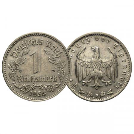 "1934 F * 1 Reichsmark GERMANIA ""Terzo Reich - Eagle"" (KM 78) SPL"