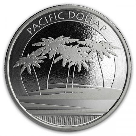 "2018 * 1 Dollar Argento 1 OZ Fiji ""Pacific Dollar"" FDC"
