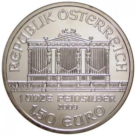 """2009 * 1,50 Euro 1 OZ Oncia Austria """"Filarmonica"""" FDC"""