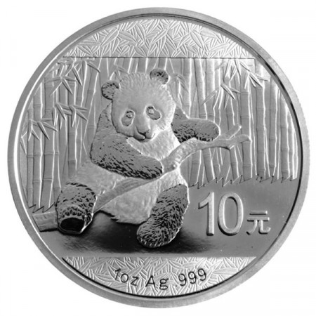 2014 * 10 Yuan d'argento 1 OZ Cina Panda