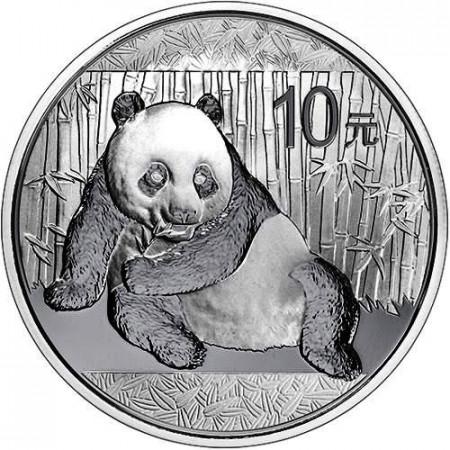 2015 * 10 Yuan d'argento 1 OZ Cina Panda