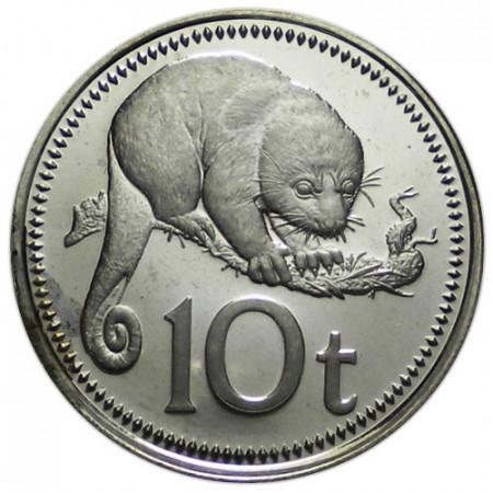 "1975 * 10 Toea Papua Nuova Guinea ""Cuscus"" (KM 4) PROOF"