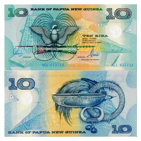 ND (2000) * Banconota Polimera Papua Nuova Guinea 10 Kina (p26a) FDS