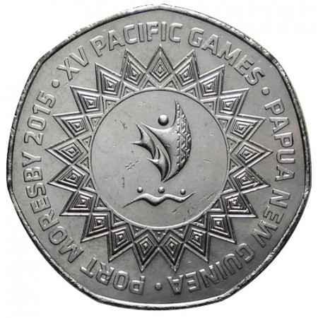 """2015 * 50 Toea Papua Nuova Guinea """"15° Giochi del Pacifico"""""""