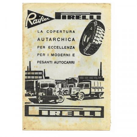 """1943 * Pubblicità Originale Pneumatici """"Pirelli - Raiflex"""" Bianco/Nero"""