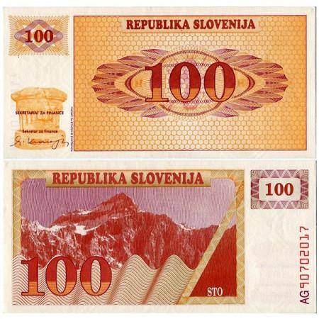 1990 * Banconota Slovenia 100 Tolarjev  (p6a) FDS