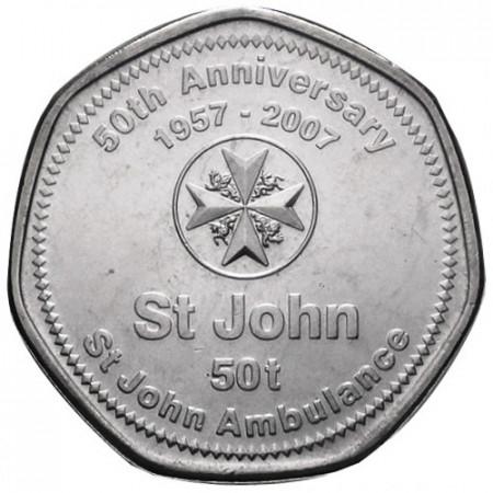2007 * 50 toea Papua Nuova Guinea 50° Saint John Ambulance