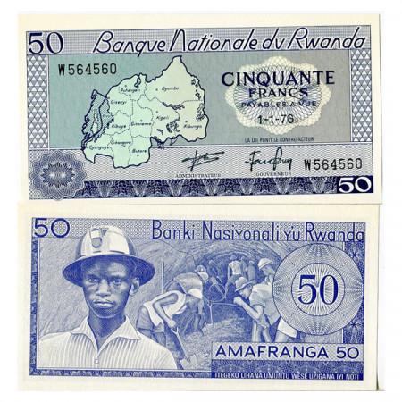 1976 * Banconota Ruanda 50 Francs (p7c) FDS